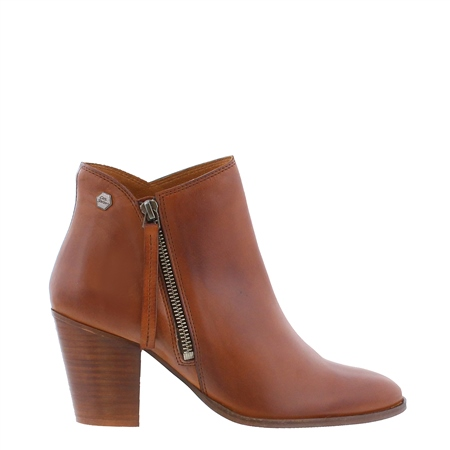 Laura Brandy Mid Heel Ankle Boots  - Click to view a larger image