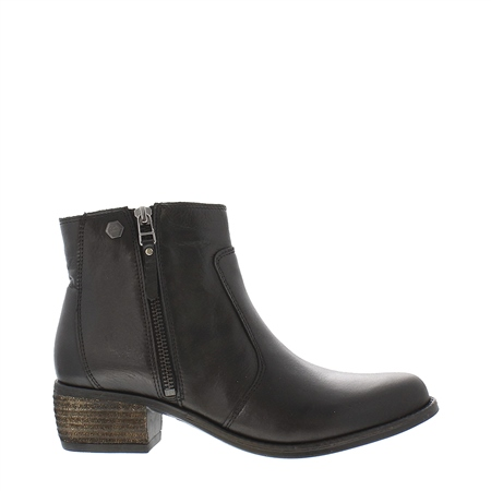 Lauren Black Low Heel Ankle Boots  - Click to view a larger image
