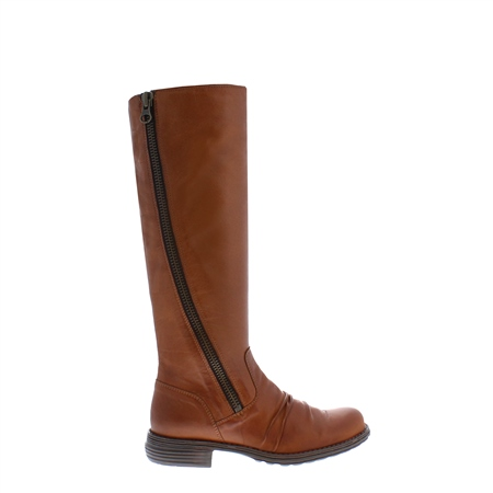 Alegria Tan Flat Knee Boots  - Click to view a larger image