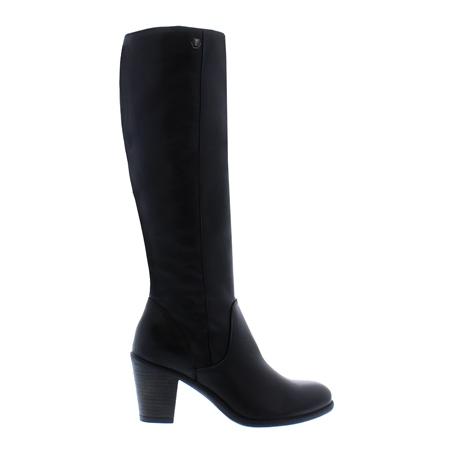 8828a020597 Black Mid-Block Heel Knee Boots - Loren
