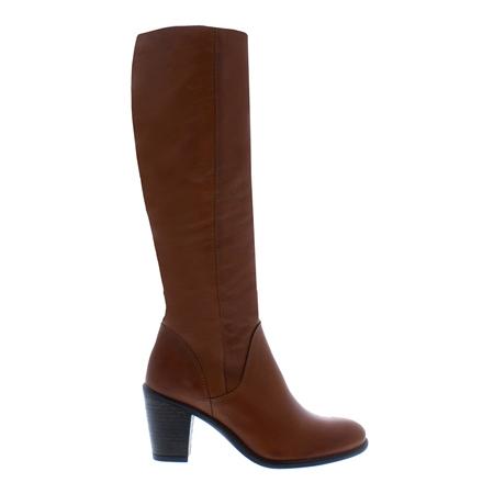 Loren Brandy Mid-Block Heel Knee Boots