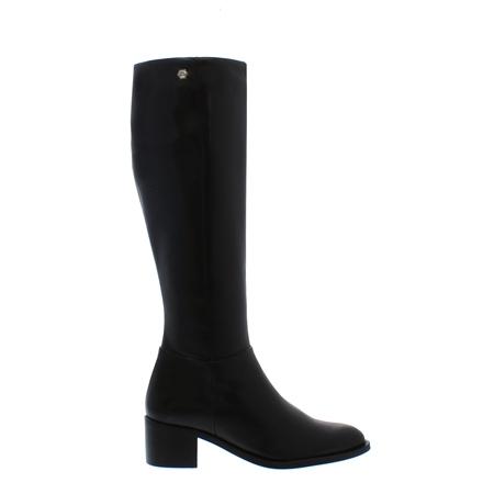 Luiza Black Mid Heel Knee-High Boots