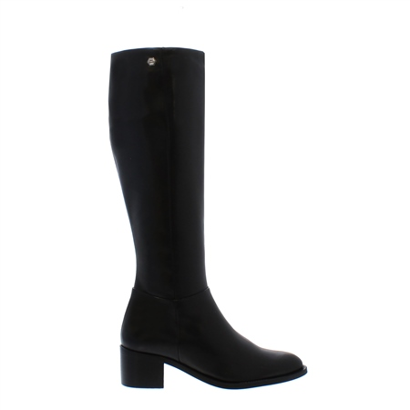 Luiza Black Mid Heel Knee-High Boots  - Click to view a larger image
