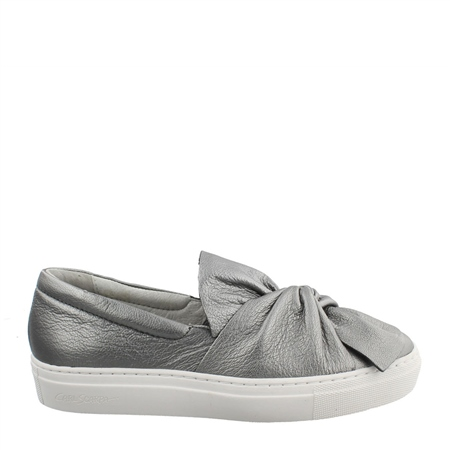 Ellie Chrome Slip-On Trainers  - Click to view a larger image