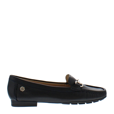 Beila Navy Snaffle Leather Loafers