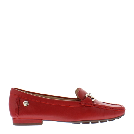 Beila Red Snaffel Loafers
