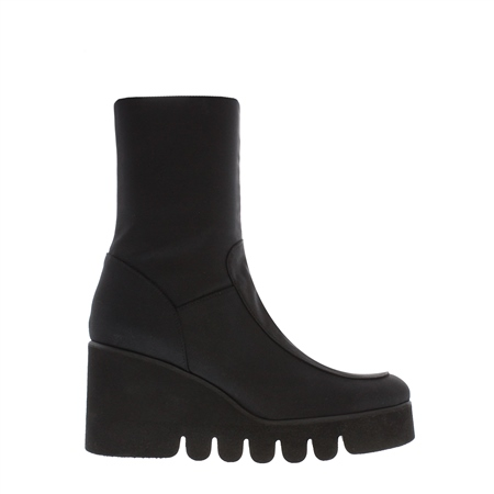 Alban Black Wedge Ankle Boots  - Click to view a larger image