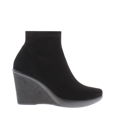 f337903de5a3 Black Wedge Ankle Boots - Lisca