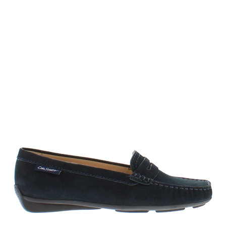 Bettina Navy Slip-On Loafers