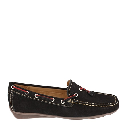 Black Slip-On Tassel Loafers - Faris  - Click to view a larger image
