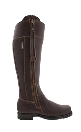 Natasha Brown Waterproof Country Boots - Luxe Fit  - Click to view a larger image