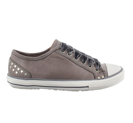Grey Lace Up Leisure Shoes - Carina  - Click to view a larger image