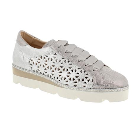 3e6a62dfae9c Carl Scarpa Silver Lace Up Leisure Shoes - Elettra
