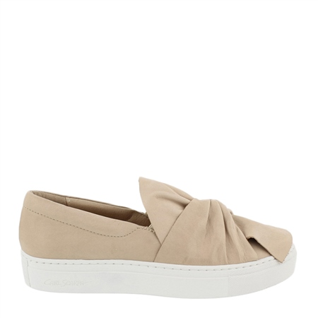 Beige Slip-On Leisure Shoes - Ellie  - Click to view a larger image