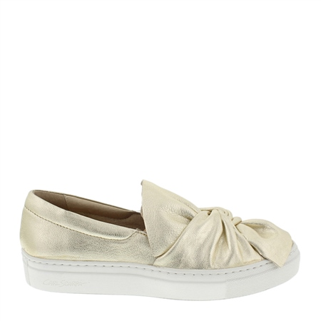 Ellie Gold Slip-On Trainers  - Click to view a larger image