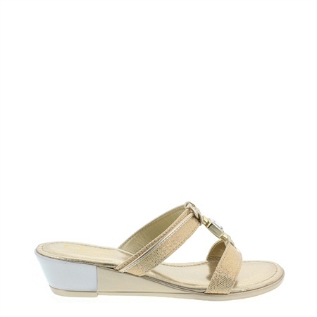 Lysander Gold Sandals  - Click to view a larger image