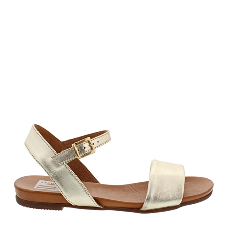 Tianna Gold Leather Sandals  - Click to view a larger image