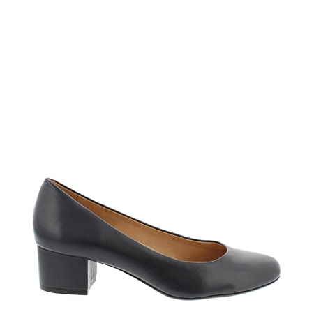 Yolanda Black  Court Shoes  - Click to view a larger image