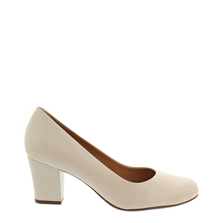 Yvonne Beige Court Shoes  - Click to view a larger image
