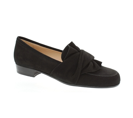 Perola Black Suede Loafers  - Click to view a larger image