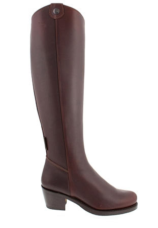 Savanna Brown Leather Boots  - Click to view a larger image