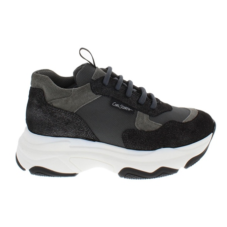 Almira Black Chunky Sole Leisure Shoes  - Click to view a larger image