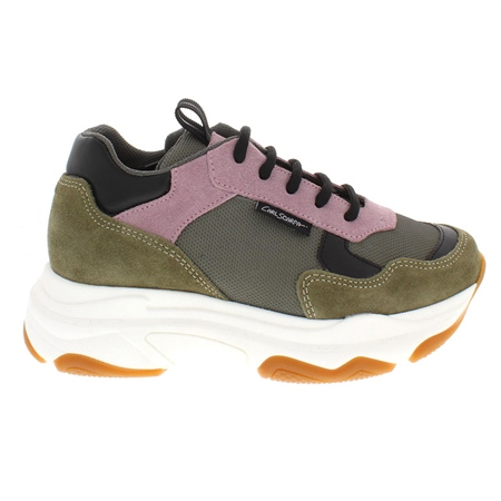 Almira Khaki Chunky Sole Leisure Shoes  - Click to view a larger image