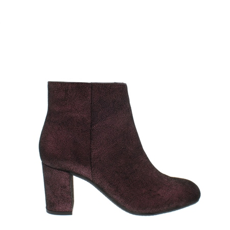 Antonia Burgundy Lustre Ankle Boots  - Click to view a larger image