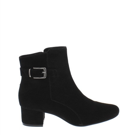 Ashley Black Suede Ankle Boots  - Click to view a larger image