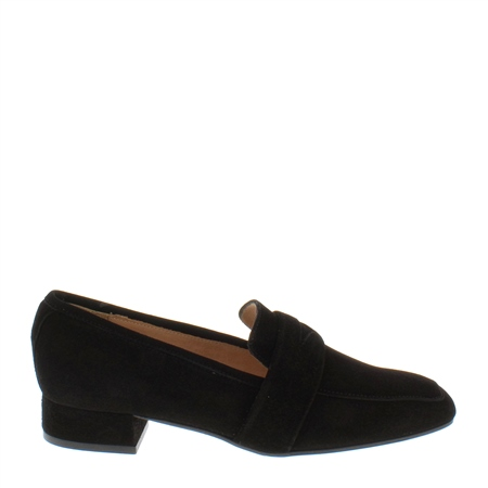Ginevra Black Suede Loafers 1