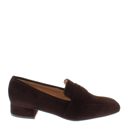Ginevra Brown suede Loafers  - Click to view a larger image