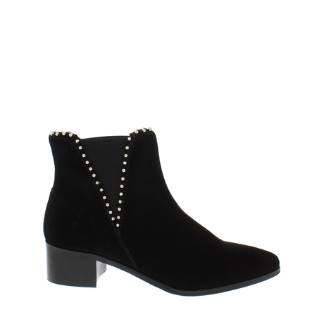 Kianna Black Ankle Boots  - Click to view a larger image