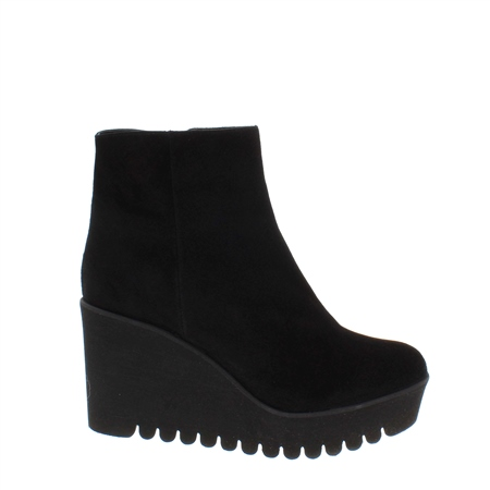 Palmira Black Suede Ankle Boots  - Click to view a larger image