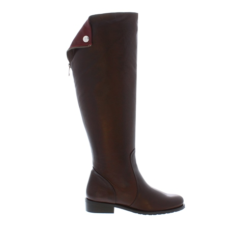 Arabella Brown Leather Boots  - Click to view a larger image