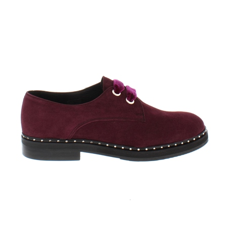 Alexandria Burgundy Suede Loafers  - Click to view a larger image