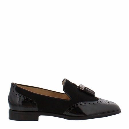 Alma Black Leather Loafers  - Click to view a larger image