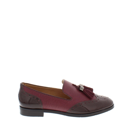 Alma Burgundy Leather Loafers  - Click to view a larger image