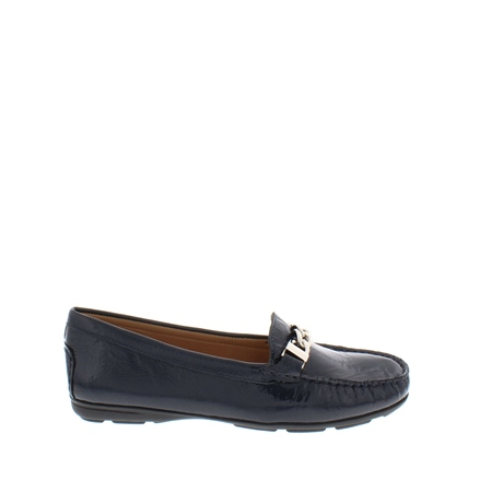 86aa531333e Alvina Navy Patent Leather Loafers