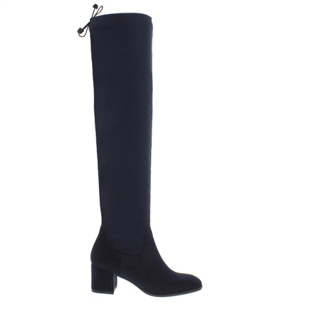 Taliah Navy Over-The-Knee Boots  - Click to view a larger image