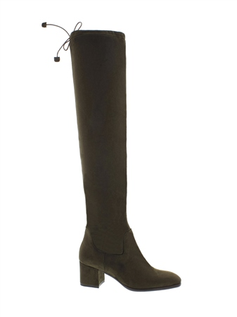 Taliah Olive Over-The-Knee Boots  - Click to view a larger image