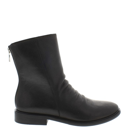 Darby Black Leather Ankle Boots  - Click to view a larger image