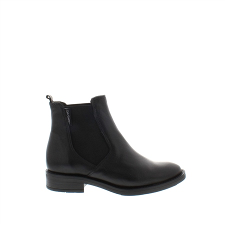 Juliana Black Leather Ankle Boots  - Click to view a larger image