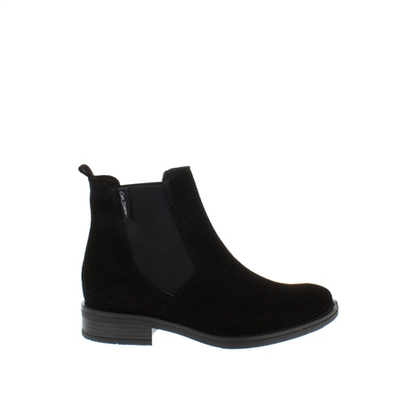 Juliana Black Suede Ankle Boots  - Click to view a larger image