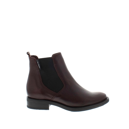 Juliana Burgundy Leather Ankle Boots  - Click to view a larger image