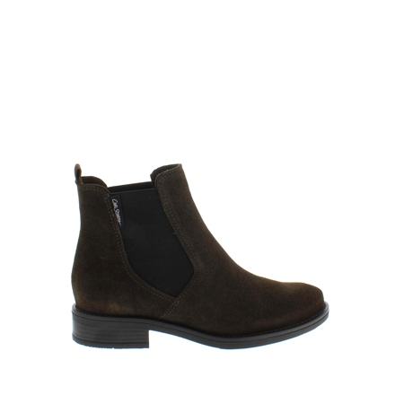 Juliana Olive Suede Ankle Boots  - Click to view a larger image