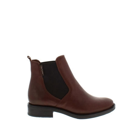 Juliana Tan Leather Ankle Boots  - Click to view a larger image