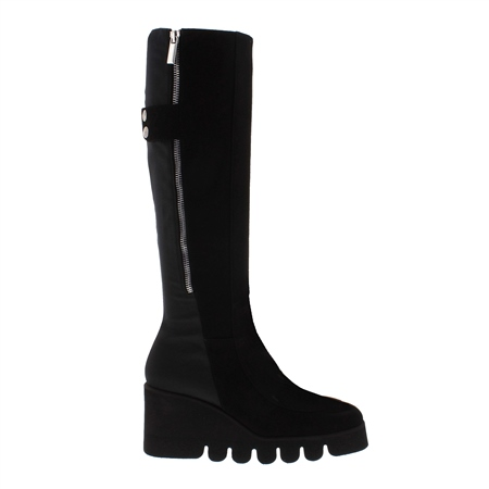 Meirelle Black Suede Boots  - Click to view a larger image