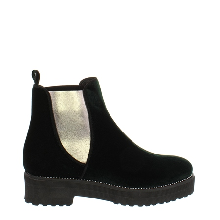 Reese Green Velvet Ankle Boot  - Click to view a larger image