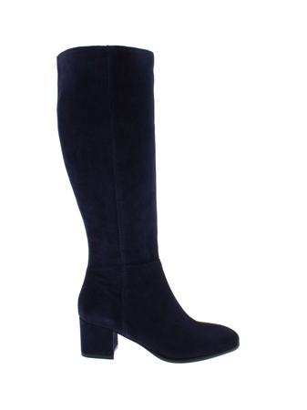 Tereza Navy Suede Boots  - Click to view a larger image