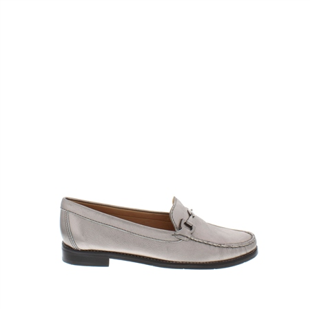 Amaya Pewter Leather Loafers  - Click to view a larger image